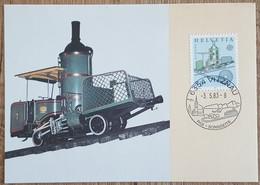 Suisse - CM 1983 - YT N°1179 - Europa / Génie Humain - Maximumkarten (MC)
