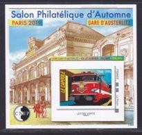 CNEP N° 81 NEUF ** MNH - SALON PARIS AUTOMNE 2019, Gare Austerlitz, Bloc Adhésif, TB - CNEP