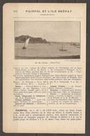 1921 PAIMPOL ET ILE DE BREHAT CHEMIN DE FER RESEAU DE L'ETAT STATION DE GUINGAMP SUR LA LIGNE PARIS BREST A 506 KM DE PA - Railway