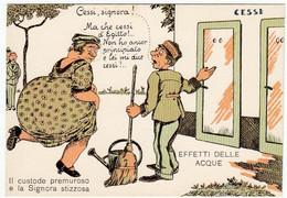 HUMOR - EFFETTI DELLE ACQUE - IL CUSTODE PREMUROSO E LA SIGNORA STIZZOSA - Vedi Retro - Humour