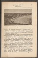 1921 LE VAL ANDRE CHEMIN DE FER RESEAU DE L'ETAT STATION LAMBALLE SUR LA LIGNE PARIS BREST A 455 KM DE PARIS - Railway