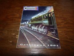 Folder Pub Kitmaster Rosebud Catalogue 1961 Train Trein 14x19cm - Jouets Anciens