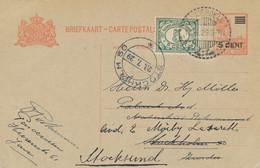 Nederlands Indië - 1929 - 5 Op 12,5 Cent Wilhelmina, Briefkaart G42 + 5 Cent Van LB Pasoeroean Naar Stockholm / Sweden - Netherlands Indies