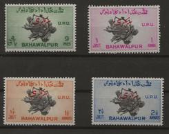 Pakistan - Bahawalpur, 1949, SG  28 - 31, Complete Set Of 4, Mint Hinged (Perforation: 13) - Pakistan