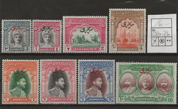 Pakistan - Bahawalpur, 1948, O 20 - 27, Complete Set Of 8, Mint Hinged - Pakistan