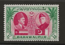 Pakistan - Bahawalpur, 1948, SG  33, Mint Hinged - Pakistan