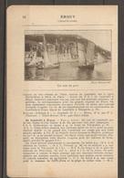 1921 ERQUY CHEMIN DE FER RESEAU DE L'ETAT STATION LAMBALLE SUR LA LIGNE PARIS BREST A 455 KM DE PARIS - Railway