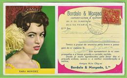 Porto - Mata-Borrão Casa Bordalo & Morgado Sara Montiel Blotter Buvard Música Actriz Teatro Cinema España Portugal - Cine & Teatro