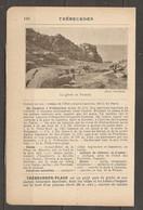 1921 TREBEURDEN CHEMIN DE FER RESEAU DE L'ETAT JUSQU'A LANNION 549 KM DE PARIS - VOITURES A CHEVAUX AUTOBUS - Railway