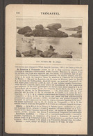 1921 TREGASTEL CHEMIN DE FER RESEAU DE L'ETAT JUSQU'A LANNION 549 KM DE PARIS - VOITURES A CHEVAUX - Railway
