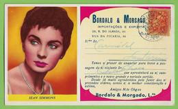 Porto - Mata-Borrão Casa Bordalo & Morgado Jean Simmons Blotter Buvard Actress Theatre Cinema England Portugal - Cinema & Teatro