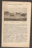 1921 PORT LOUIS ET LARMOR CHEMIN DE FER D'ORLEANS STATION LORIENT SUR LA LIGNE NANTES QUIMPER - BATEAU A VAPEUR - Railway