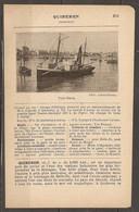1921 QUIBERON CHEMIN DE FER D'ORLEANS LIGNE AURAY A QUIBERON CHANGEMENT A AURAY - Railway
