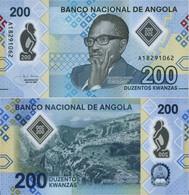 ANGOLA 200 Kwanzas 2020 P New (160) Polymer UNC - Angola