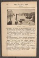 1921 BELLE ILE EN MER COMPAGNIE D'ORLEANS DELIVRE LES BILLETS - TRAVERSEE 15 KM BATEAUX A VAPEUR DEPUIS QUIBERON - Railway