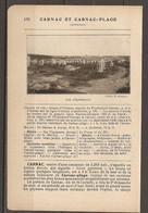 1921 CARNAC ET CARNAC PLAGE CHEMIN DE FER RESEAU D'ORLEANS STATION DE PLOUHARNEL CARNAC LIGNE AURAY QUIBERON - MENHIR - Railway