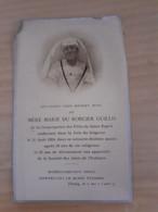 Faire Part Deces Mère Marie Du Roncier Guillo Religieuse 1924 - Obituary Notices