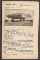 1921 LOCMARIAQUER ET LA TRINITE SUR MER CHEMIN DE FER RESEAU D'ORLEANS STATION DE PLOUHARNEL CARNAC - MENHIR - Railway