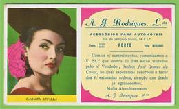 Porto - Mata-Borrão A. J. Rodrigues Carmen Sevilla Blotter Buvard  Actress Cinema Theatre España Portugal - Cinema & Teatro