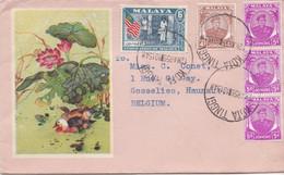 Malaya -  Kota Tinggi 12-3-1959 To Gosselies (Belgium) - Malaysia (1964-...)