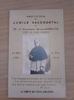 Faire-part Du Jubilé Sacerdotal De M Le Chanoine Henri Etienne Curé De Saint Charles 1913 - Obituary Notices
