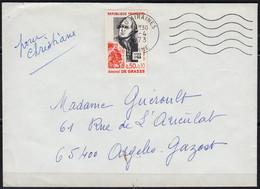 Amiral De GRASSE  Y.et.T. 1727  SEUL Sur Enveloppe Complète De 80 AIRAINES  Postée  Le 17 4 1973 Pour 65 ARGELES GAZOST - Marcophilie (Lettres)