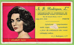 Porto - Mata-Borrão A. J. Rodrigues Elizabeth Taylor Blotter Buvard  Actress Cinema Theatre England Portugal - Cinema & Teatro