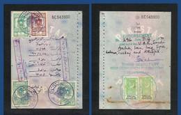 Syria Revenue With Pakistan Adhesive Revenue Stamps On Used Passport Visas Page - Siria