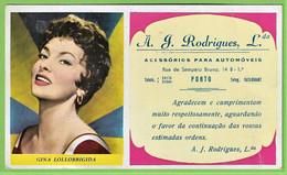 Porto - Mata-Borrão - Casa A. J. Rodrigues - Blotter - Buvard  Gina Lollobrigida Actress Cinema Theatre Italia Portugal - Cinema & Teatro