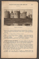 1921 SAINT GILDAS DE RHUIS CHEMIN DE FER RESEAU D'ORLEANS STATION VANNES - RESEAU DU MORBIHAN PORT NAVALO - Railway