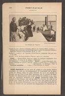 1921 PORT NAVALO CHEMIN DE FER RESEAU D'ORLEANS RESEAU DU MORBIHAN - BATEAU A VAPEUR - Railway