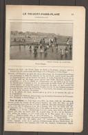1923 LE TOUQUET PARIS PLAGE CHEMIN DE FER DU NORD LIGNE DE PARIS A BOULOGNE (227 KM) ETAPLES PUIS TRAM ELECTRIQUE - Railway