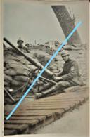 Photo IJZER Front Canon De Tranchées Tranchée Belgische Leger 1914-18 ABL WO1 - Guerra, Militari