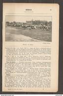 1923 BERCK CHEMIN DE FER DU NORD 216 KM LIGNE DE PARIS A RANG DU FLIERS VERTON - TAXE DE SEJOUR SANATORIUM CASINO - Railway