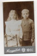 Y623/ CDV Foto Kinder Junge Und Mädchen Atelier Hermann Linke, Hall   Ca.1905 - Sin Clasificación