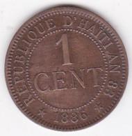 REPUBLIQUE D'HAITI. 1 CENTIME 1886 Paris AN 83. BRONZE .KM# 48 - Haiti