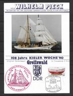 BRD/Bund 1990 Gedenkblatt Wilhelm Pieck - Segelschulschiff - Greifswald - [7] Federal Republic