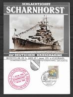 BRD/Bund 1989 Schlachtschiff Scharnhorst Der Deutschen Kriegsmarine - Covers & Documents