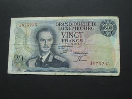 20 Francs GRAND DUCHE DE LUXEMBOURG 1966    **** EN  ACHAT IMMEDIAT  **** - Luxembourg