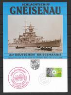 BRD/Bund 1988 Schlachtschiff Gneisenau Der Deutschen Kriegsmarine - Covers & Documents