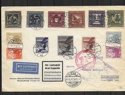 Österreich 1930 Luftpostbrief Mit Luftschiff Graf Zeppelin - Lettres & Documents