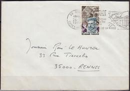 Amiral De COLIGNY  Y.et.T. 1744  SEUL Sur Enveloppe Complète De 22 DINAN Postée  Le 26 2 1973 Pour 35000 RENNES - Marcophilie (Lettres)