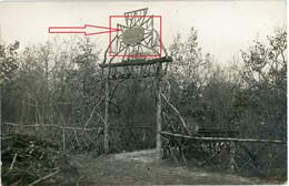 Carte Photo. 55(Meuse)  Bois D'Ailly . Waldfriedhof Cimentiere . Argonnen ? Guerre 14-18.WWI - 1914-18