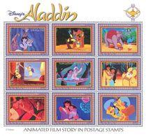MWD-BK4-229-2 MINT PF/MNH ¤ GUYANA 1993 Sheet 3 ¤ ALLADIN - THE WORLD OF WALT DISNEY - FRIENDS OF WALT DISNEY - Disney