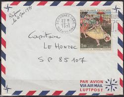 Edgar DEGAS  Y.et.T. 1654  SEUL Sur Enveloppe Complète De 35 RENNES Postée Le 28 4 1971 Pour Un Capitaine SP 85107 - Marcophilie (Lettres)