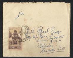 Estado India 1947 Air Mail Postal Used Cover To Pakistan - Inde Portugaise