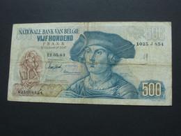BELGIQUE - 500 Francs - VIJF HONDERD 1963 - Nationale Bank Van Belgie  ***** EN ACHAT IMMEDIAT ***** - 500 Francs