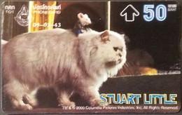 Opt. Telefonkarte Thailand - Movie , Film - Stuart Little (2) - Katze - Thailand