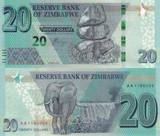 ZIMBABWE 20 Dollars 2020 P New UNC - Zimbabwe