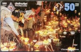 Opt. Telefonkarte Thailand - Tradition -  Lichtfest (2) - Thailand